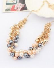 colier perle twist cu negru