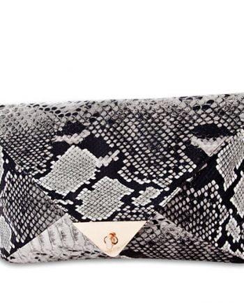 Geantă Plic imitație de șarpe