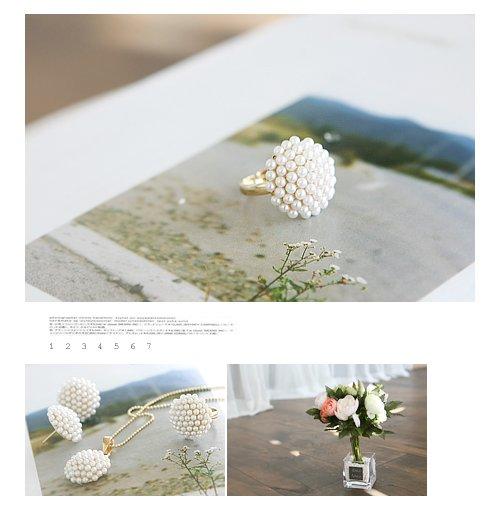 Inel Perle Mushroom
