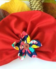 turban rosu copii