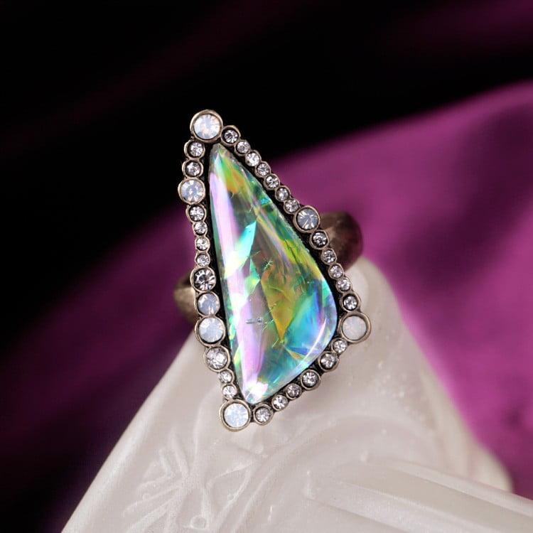Inel Mawo geometric piatră efect