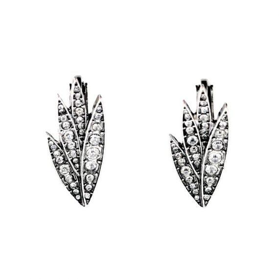 Cercei Pin frunză cu pietre