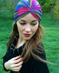 turban rainbow colorat