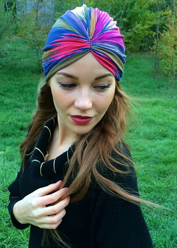 turban rainbow colorat