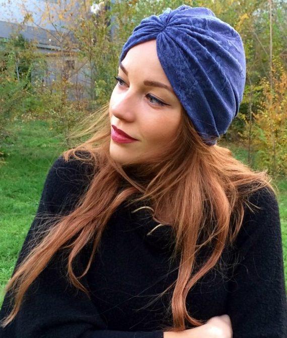 turban albastru cu tesatura2