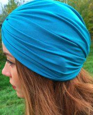 turban turcoaz din bumbac elastic