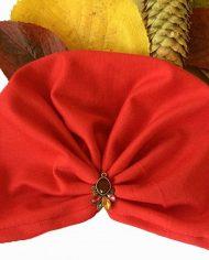 turban rosu bumbac