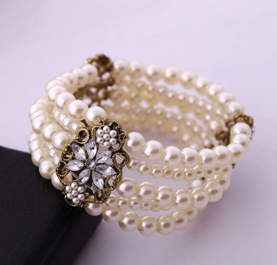 Brățară Xila din perle și cristale!!381872106