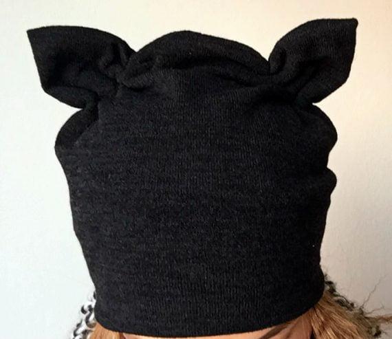 Caciula cu urechi din tricot elastic