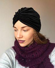 turban-negru-din-catifea-elastica