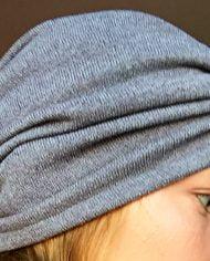 Turban gri din tricot