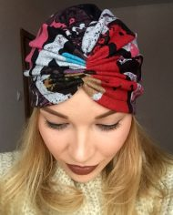 Turban colorat din angora