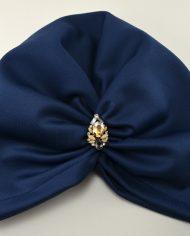 Turban albastru din scuba