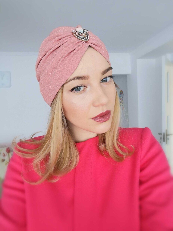 turban roz-plamaniu