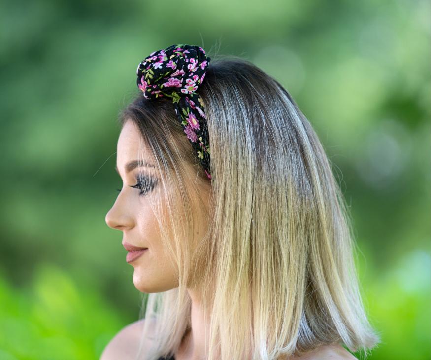 Bentita florala subtire cu nod
